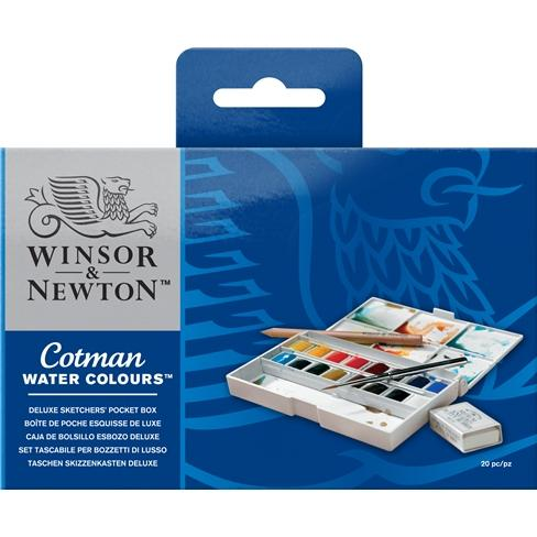 W&N Cotman Student Watercolour Deluxe Sketchers Pocket Box