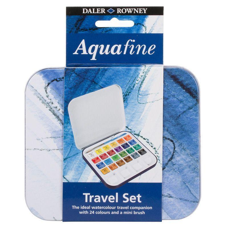 Daler Rowney Aquafine Student Watercolour Travel 24 Set