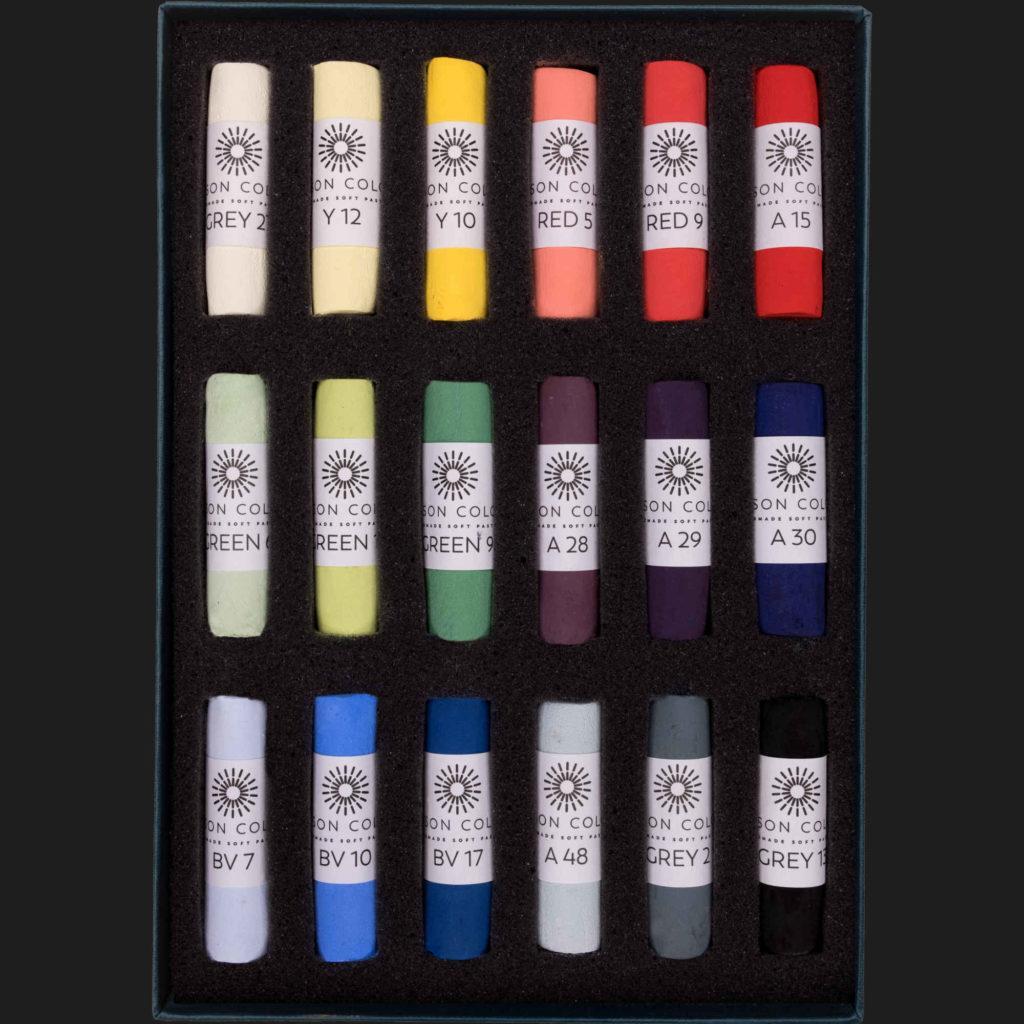 Unison Soft Pastel Set - Starter Set of 18 Pastels