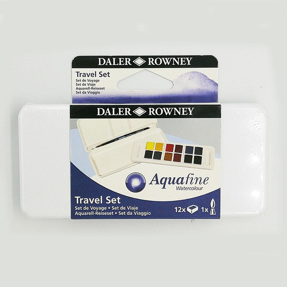 Daler Rowney Aquafine Student Watercolour Travel 12 Set