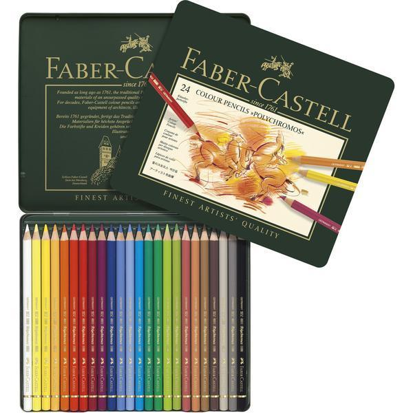 Faber Castell Polychromos Coloured Pencil Set of 24