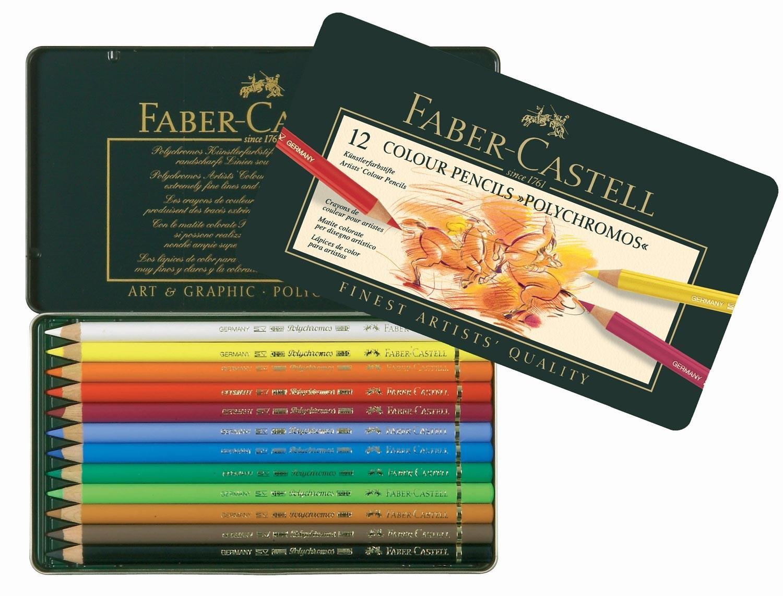 Faber Castell Polychromos Coloured Pencil Set of 12