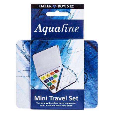 Daler Rowney Aquafine Student Watercolour Mini Travel 10 Set