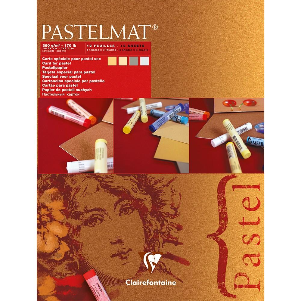 Clairefontaine Pastelmat Light Shades 12 sheets 24 x 30cm