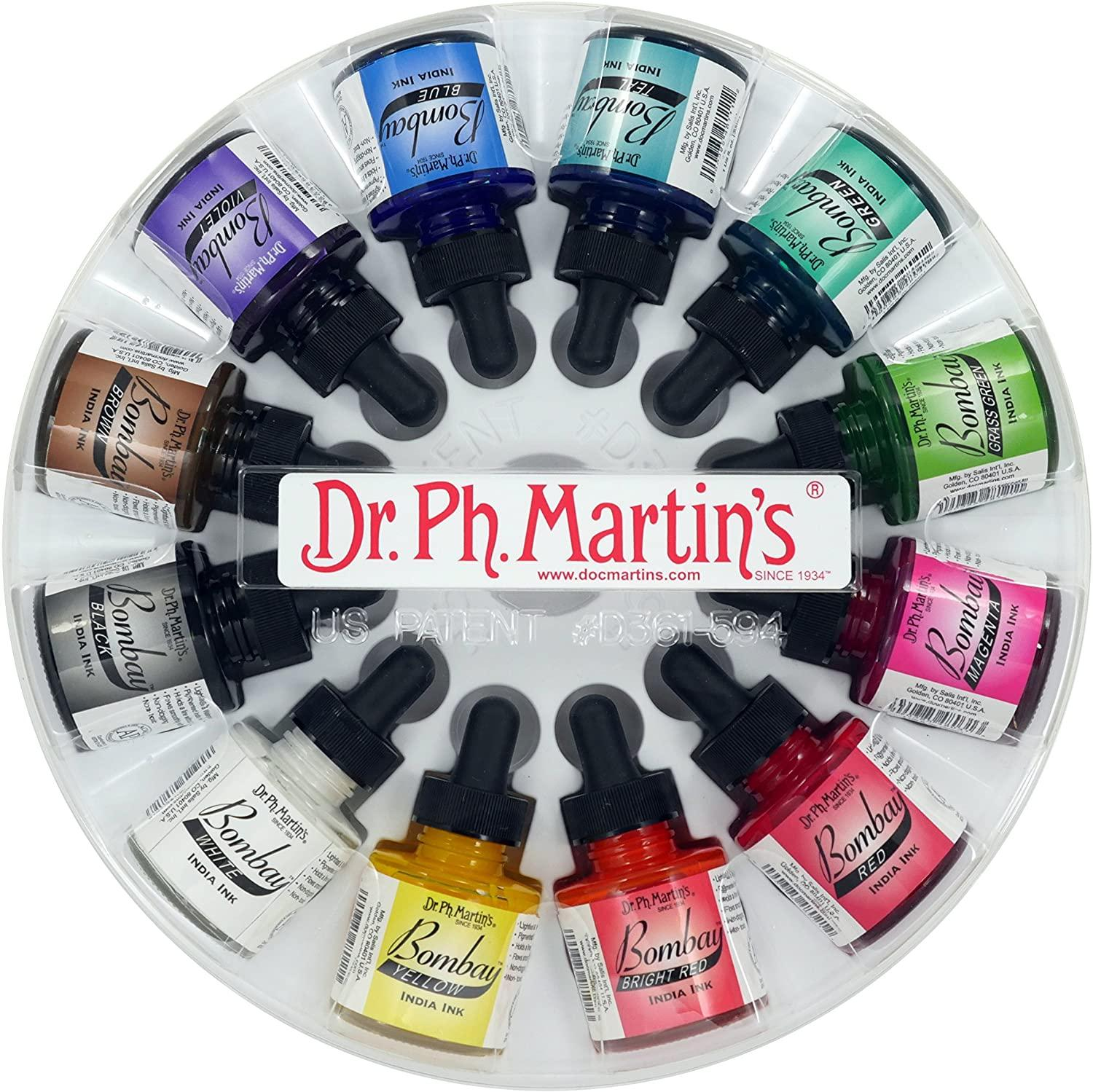 DrMartin's Bombay Indian Ink Set 1 (12x1oz)